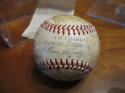 1955 Kansas City Athletics A's Signed Team ball 21 signatures  1st year!