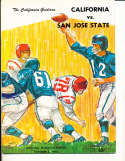 Oct 8 1966 California San Jose State Football Program CFBbx5