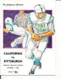 Oct 1 1966 California Pittsburgh Football Program CFBbx5