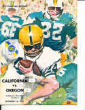 Sept 16 1967 California Oregon Football Program CFBbx5