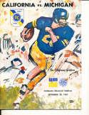 Sept 30 1967 California Michigan Football Program CFBbx5