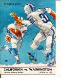 Oct 28 1967 California Washington Football Program CFBbx5