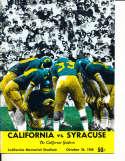 Oct 26 1968 California Syracuse Football Program CFBbx5