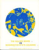 Oct 24 1970 California Washington State Football Program CFBbx5