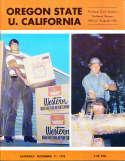 Nov 11 1972 Oregon State California Football Program CFBbx5