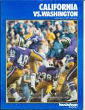 Nov 5 1977 California Washington Football Program CFBbx5