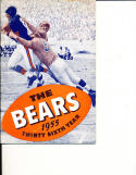 1955 Chicago Bears Press Guide em b