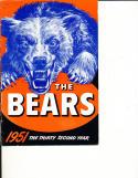 1951 Chicago Bears Press Guide em b