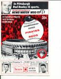1970 NLCS Pirates vs Reds NM Program unscored