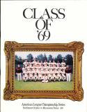 1969 ALCS Orioles vs Twins NM Program unscored