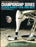 1969 NLCS Braves vs Mets (hm) NM Program unscored