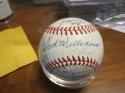 1970 Washington Senators Team Signed Baseball 36 sigs Ted Williams Nellie Fox psa/dna