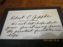 Robert C Zuppke signed index card University of Illinois HOF d57