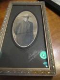 James F. Lanagan stanford football coach 1903-08 signed cabinet baseball photo