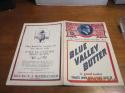 1939 Chicago White Sox vs New York Yankees unscored baseball program