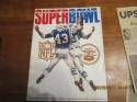 Superbowl 3 1969 world championship Football Program & Paper Jets vs Colts