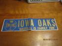 1970's Iowa Oaks AA Baseball Bumper Sticker