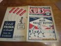 1934 Chicago Cubs vs St. Louis Cardinals unscored baseball program