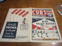 1934 Chicago Cubs vs St. Louis Cardinals unscored baseball program  ex creased bxprog