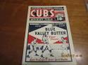 1934 Chicago Cubs vs Pittsburgh Pirates unscored baseball program