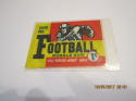 1959 Topps Football Wrapper open 1 cent park with card nrmt