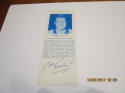1968 Bob Kurland Signed HoF bookmark basketball card