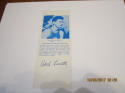 1968 Hank Luisetti Signed HoF bookmark basketball card