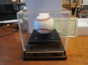 Nolan Ryan Houston Astros signed ball baseball OAL certificate & display pepsi