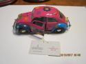 Franklin Mint  1967 Volkswagen Beetle hippie pink Rare