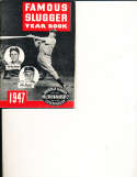 1947 Famous Slugger Year Book Guide Joe Dimaggio Stan Musial BBmag3