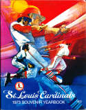 1973 St Louis Cardinals Baseball Yearbook ex
