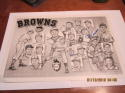St. Louis Browns 14x9.5  team print Signed by Roy Sievers Ned Garver