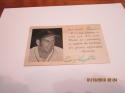 Enos Slaughter  St. Louis Cardinals 1952 postcard Signed Ic1