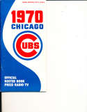 1970 Chicago Cubs Spring Edition media press guide