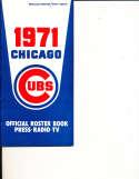 1971 Chicago Cubs Regular Edition media press guide