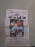 Sept 7 1995 The Sun paper Cal Ripken 2131 consecutive games OvBBMag1