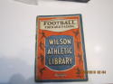 1923 Wilson Athletic Library football forward passing 36 pages photo's