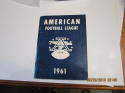 1961 AFL American Football League Football Press Media Guide