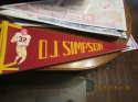 1970 OJ Simpson USC #32 football pennant