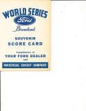 1935 World Series detroit tigers Ford Broadcast Scorecard MLBp1