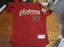 Matt Kata 2009 Houston Astros #36 game used road jersey