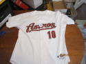 Jose Vizcaino 2005 Houston Astros #10 game used white jersey