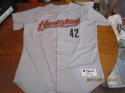 Jose Lima 2000 Houston Astros #42 game used Grey jersey