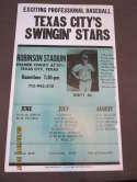Texas City's Swingin' stars robinson stadium Dirty al Disco night