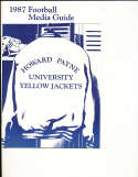 1987 Howard Payne Univ Football Media Press guide CFBmg13