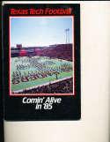 1985 Texas Tech Football Media Press guide CFBmg13