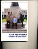 1986 Rice Football Media Press guide CFBmg13