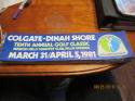 1981 Colgate - Dinah Shore 10th Annual Golf Woman classic LPGA  Bumper sticker