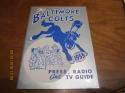 1955 Baltimore Colts Football Press media Guide   nm  bx fg1