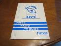 1959 Baltimore Colts Football Press media Guide  em/nm    bx fg1